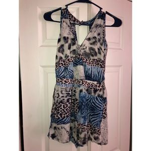 Pants - Mis-Matched Print Romper- Size S